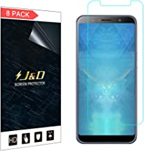 J&D Compatible for ASUS ZenFone Max Pro Screen Protector (8-Pack), Not Full Coverage, HD Clear Protective Film Shield Scre...