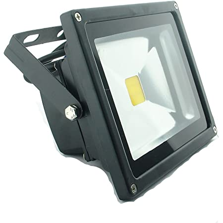 Two 10 watt cool white 12  volt DC led flood light outdoor security light