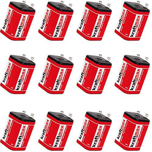 12x Kraftmax 4R25 Batterie Block - 6V / 9500mAh ( 9,5 AH ) - 6 Volt Hochleist...