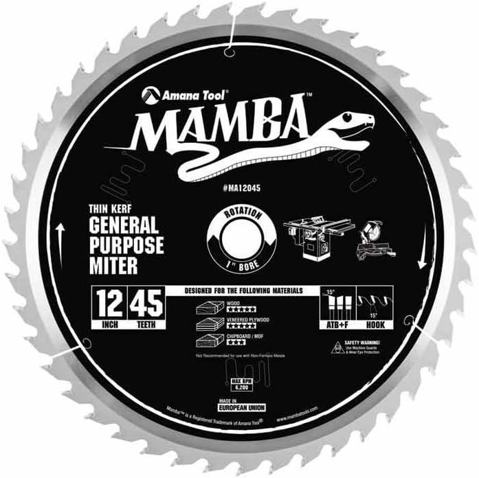 Amana Tool Max 66% OFF Mamba Series MA12045 General Max 59% OFF Purpose Miter 12-Inch x