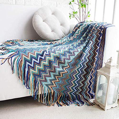 LEILEI Fleece plaid blanket,super soft double-sided bed blanket 130X170cm