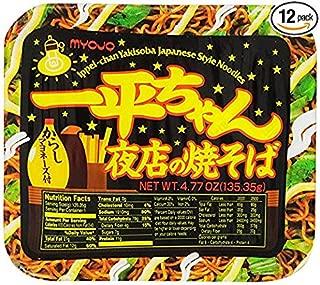 LED LEADER Myojo Ippeichan Yakisoba Japanese Style Instant Noodles,4.77-Ounce Tubs (Pack of 6)