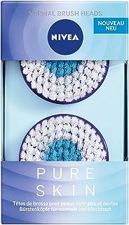 Nivea Pure Skin normale borstelkop voor elektrische gezichtsreinigingsborstel, 1 x 2 stuks