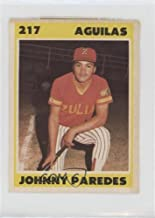 Johnny Paredes (Baseball Card) 1987-88 Venezuelan Winter League Stickers - [Base] #217