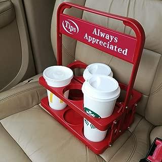 Foldable Plastic Beverage Carrier for Grubhub Ubereats Doordash Postmates Drivers