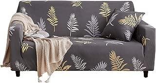 Yosooo Sofa Slipcover, Elegant Leaves Pattern Elastic Sofa Cover Slipcover Sofa Protecto(Quadruple seat: (for 240-300cm))