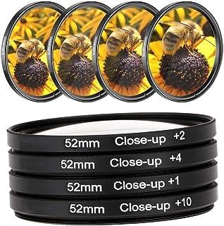 eWINNER Close-up +1/+2/+4/+10 Lens Set Filters for Digital Cameras and DSLR Cameras, Macro Lens Kit for Canon Cameras (4 P...