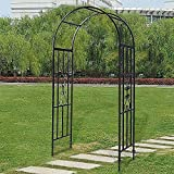 Arco de Rosas Trepadoras Arco de Jardín de Metal Cenador de jardín resistente para boda, cenador de jardín de hierro para varias plantas trepadoras, rosas, vides, soporte de decoración, pérgola e