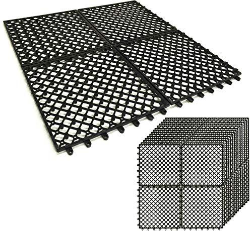 ガーデンガーデン 1m幅にぴったり敷ける 人工芝用水はけ床マット 50cm×50cm 20枚セット (1×5m/5平米分)ジョ...
