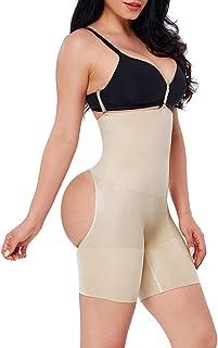 FeelinGirl Kvinnor sömlösa vigselbyxor hög midja body lyftform form byxor magen väg med spänne