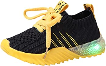 Todaies Children Sport Led Luminous Sneakers Lace up Kid Baby Girls Boys Candy Color Run Shoes