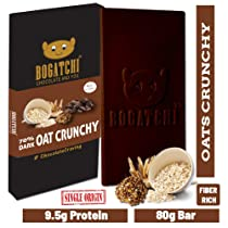 BOGATCHI Healthy Oats 70% Dark Chocolate Bar Crunchy Flavor , Low Carbs, Keto Chocolate, 80g