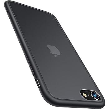 TORRAS Shockproof Designed for iPhone SE 2020 Case & Designed for iPhone 8 Case [Military Grade Drop Test] Translucent Matte Hard Back & Soft Bumper Slim Designed for iPhone 7 case, Black