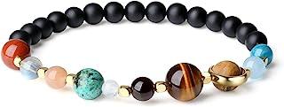COAI Solar System Matte Onyx Bracelet for Men Women