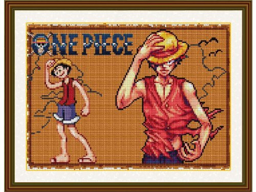 Happy Forever Cross Stitch,Cartoon characters, One piece, luffy