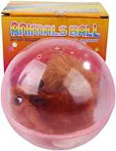 Patgoal Pet Rolling Ball Toy Built-in Plush Toy Dog Cats Automatic Interactive Rolling Ball Toys, White/Brown