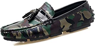 Business Men's Shoes Extra Large Size 47 Fashion Camouflage Trend One-step Driving Shoes