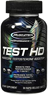 MuscleTech Test HD Hardcore Testosterone Booster, 90 Capsules