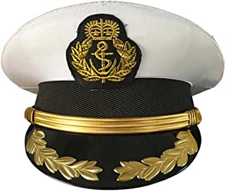 NEWSAIL Adult Navy Cpatain Hats Officer Cap Sailor Hats Boat Sea Skipper Cap Captain's Yacht Hat