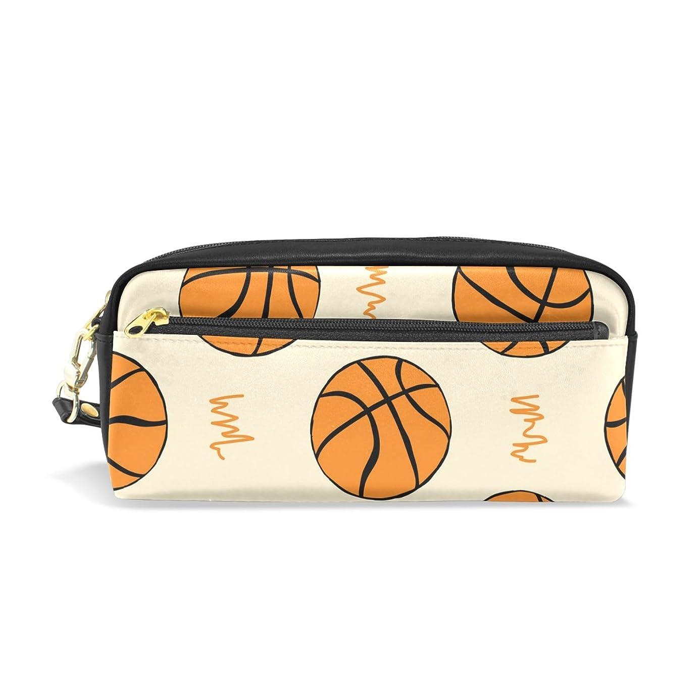 佐賀破壊する第三AOMOKI ペンケース 化粧ポーチ 多機能バッグ 小物入り バスケットボール