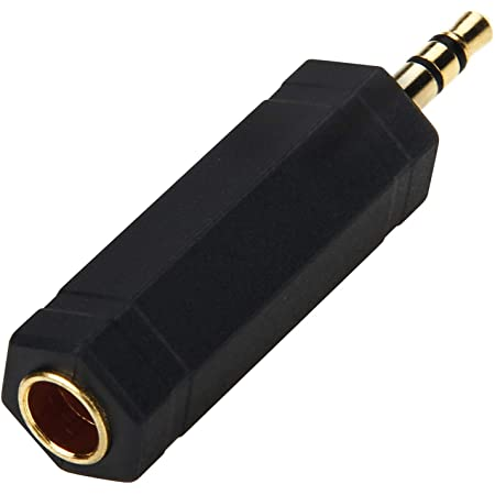 ミニプラグ 標準プラグ 変換 アダプタ 3.5mm 6.35mm ステレオプラグ オスメス wuernine 金メッキ ヘッドホン マイク 楽器など用