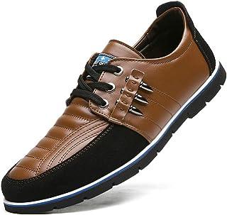 Zapatos de Cordones Mocasines Clásicos de Cuero Oxford con para Hombres Negocios Conducir Informal Zapatillas Deportivas C...