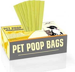 Pets Empire Pet Waste Bags Dog Poop Bags Unscented Biodegradable Dog Paw Prints (Color May Vary) (9.1 x 11.6 Inch (100 Bags)