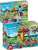 Bundle Playmobil Country 70501 70505 - Juego de 2 piezas para caballos y accesorios