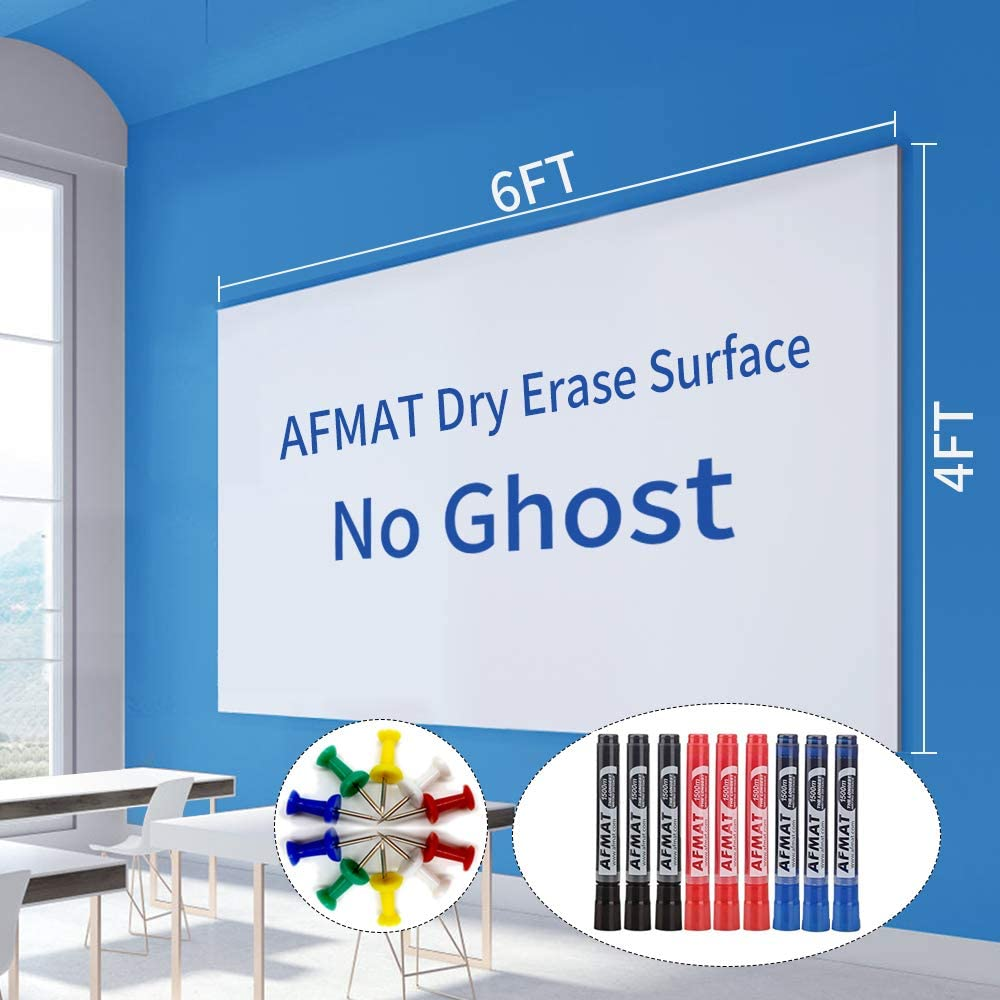 6'x4' Houston Mall Whiteboard Paper Max 88% OFF White Board Large Wallpaper Adhesive Dr