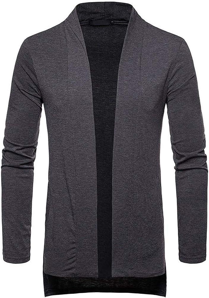 MODOQO Men's Jacket Loose Fit Long Cardigan Sweatshirts Outwear Coat