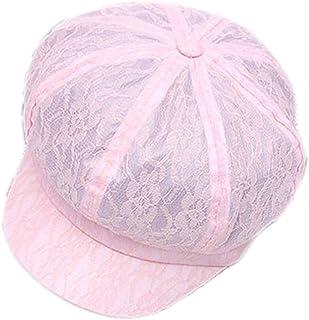 0f16a74eda4 ZLSLZ Women s Girl s Solid Cute Mesh Breathable Newsboy Ivy Gatsby Golf Sun Hat  Cap