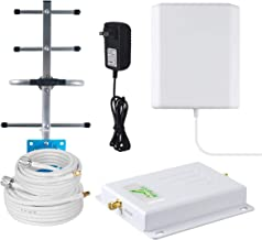 AT&T 4G Cell Phone Signal Booster for Home and Office - 700MHz Band 12/17T-Mobile Cellular Repeater Amplifier AT&T Signal Booster with Panel/Yagi Antennas - Boost 4G Cell Signal/No More Dropped Calls