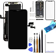 for iPhone X Screen Replacement OLED 5.8 inch [NOT LCD] Touch Screen Display Digitizer Repair Kit Assembly with Complete R...