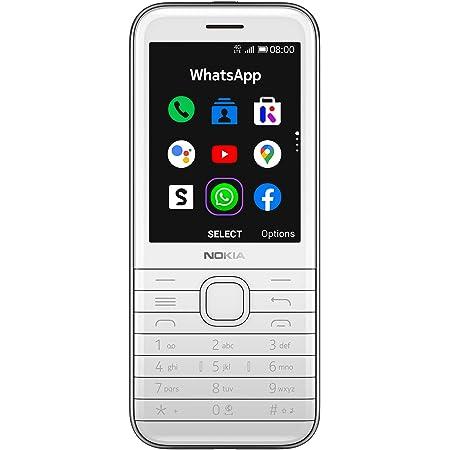 Nokia 8000 4g Dual Sim Mobiltelefon In Edlem Look 2 8 Qvga Display 4g Technologie 4 Gb Speicher Bis Zu 128 Gb Via Microsd Bluetooth 2 Mp Kamera Fm Radio Mp3 Player Weiß Amazon De
