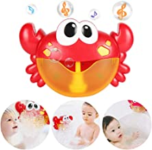 HZONE Crab Bubble Machine for Baby Bath Toys, Musical Bathtub Bubble Toy Bubble Maker with Nursery Rhyme for Infant Baby Children Kids Happy Tub Time,Bubble Machine for Boys and Girls Aged 1 2 3 4