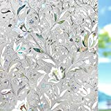 Window Film, Window Privacy Film, Window Vinyl Glass Covering, Stained Glass Decorative Film, Window Film Privacy Frosted, Static Window Clings, Non-Adhesive, No-Glue (17.5 x 78.7 inch)