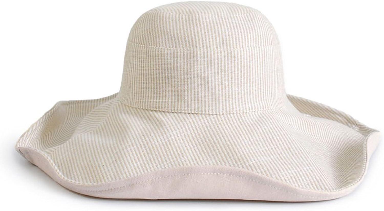 7fde35f541fb2d YD Hat Summer Hat, Sun Hat Women Cotton Linen Stripe DoubleSide Wear  UltrapurpleProof Bucket Hat