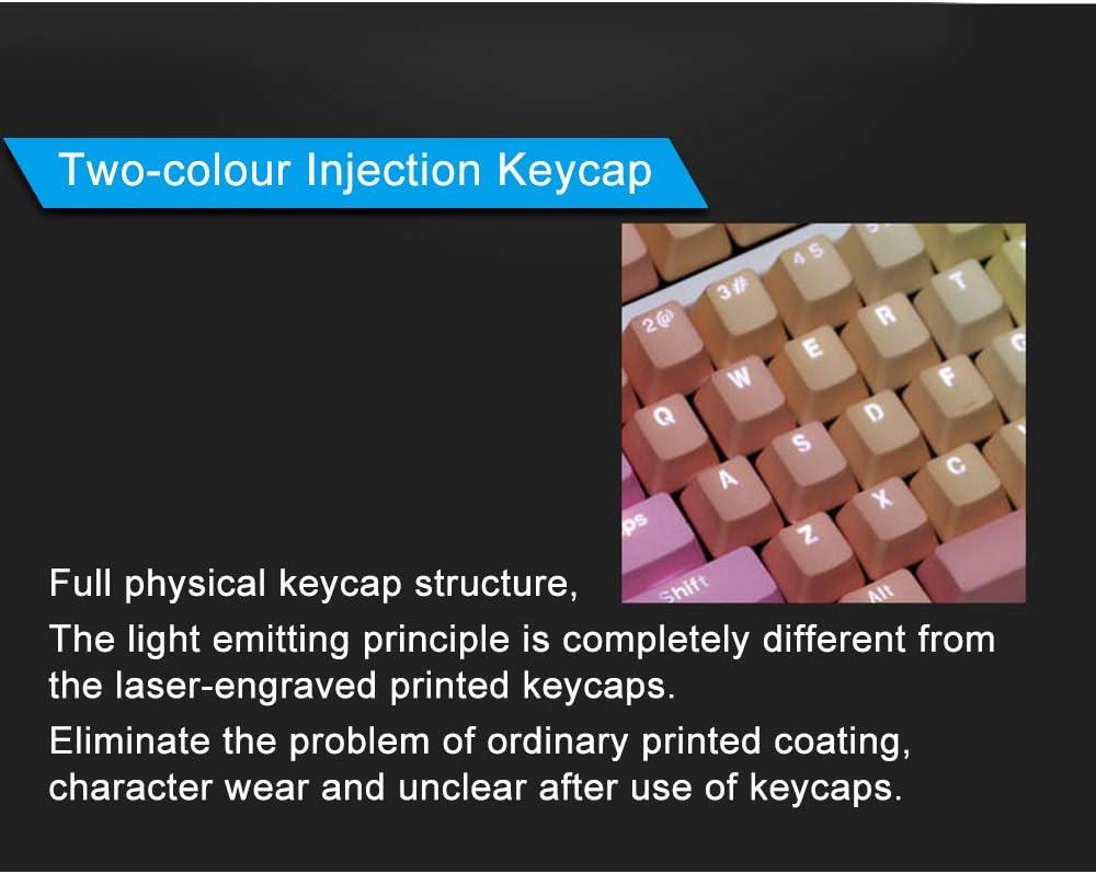 87//104//108 PBT Keycaps Backlight Keyset Gaming Keycaps Replacement Keyset Universal Mechanical Keyboard Keycap