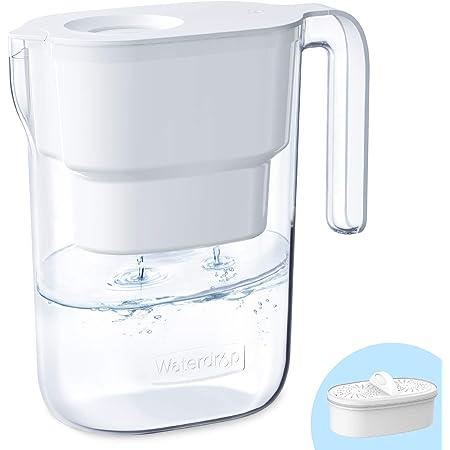 Waterdrop Elfin Carafe Filtrante d'eau avec 1×90 Jours Filtre, 2.5L, Réduit le Plomb, le Fluorure, le Chlore et Plus, NSF Certifiée, sans BPA, Blanc (Filtre Remplaçable: WD-PF-01A Plus)