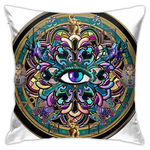 Tamianice Home Gift Pillow Sofa Cushion Evi Eye Symbol Couple Party Decoration 18X18in
