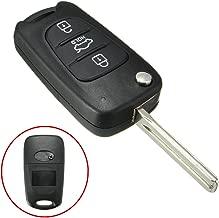 Jonathan-Shop - Black 3 Button Remote Flip Key FOB Case Shell Blade For KIA Rondo Sportage Soul Rio