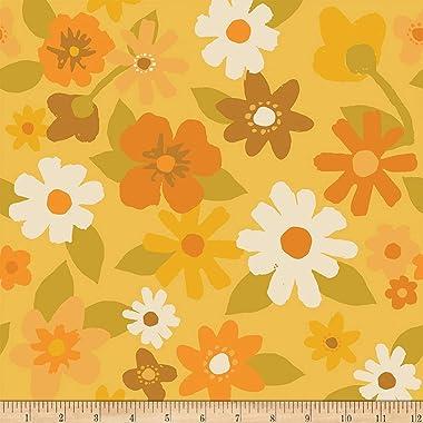 Flower Market Large Flowers Petals Daisy Quilt Fabric