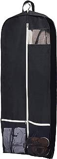 """Breathable 54"""" Garment Bag Black Suit Cover Bag for Suit, Dress, Shirts, Tuxedos, Coats (Black)"""