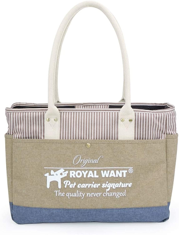 Pet bag portable foldable fashion Oxford fabric Khaki cat dog handbag travel pets products