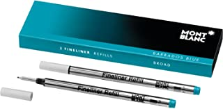 Montblanc Fineliner Refills (B) Barbados Blue 111444 – Pen Refills for Fineliner and Rollerball Pens by Montblanc – 2 x Fiber Tip Pen Refill