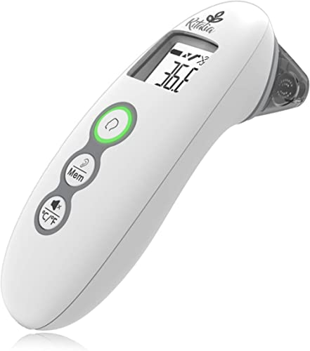 Ritalia Baby Thermometer Forehead and Ear. Digital Infrared Thermometer. Clinical Accuracy Thermometer Suitable for B...
