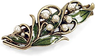 Sweet Romance Vintage Lily of The Valley Bridal Flower Wedding Hair Barrette Clip