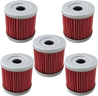 HIFROM Pack of 5 Oil Filter fit for Suzuki DRZ400E DRZ400S DRZ400SM 2000-2013 Replace HF139 & KN139