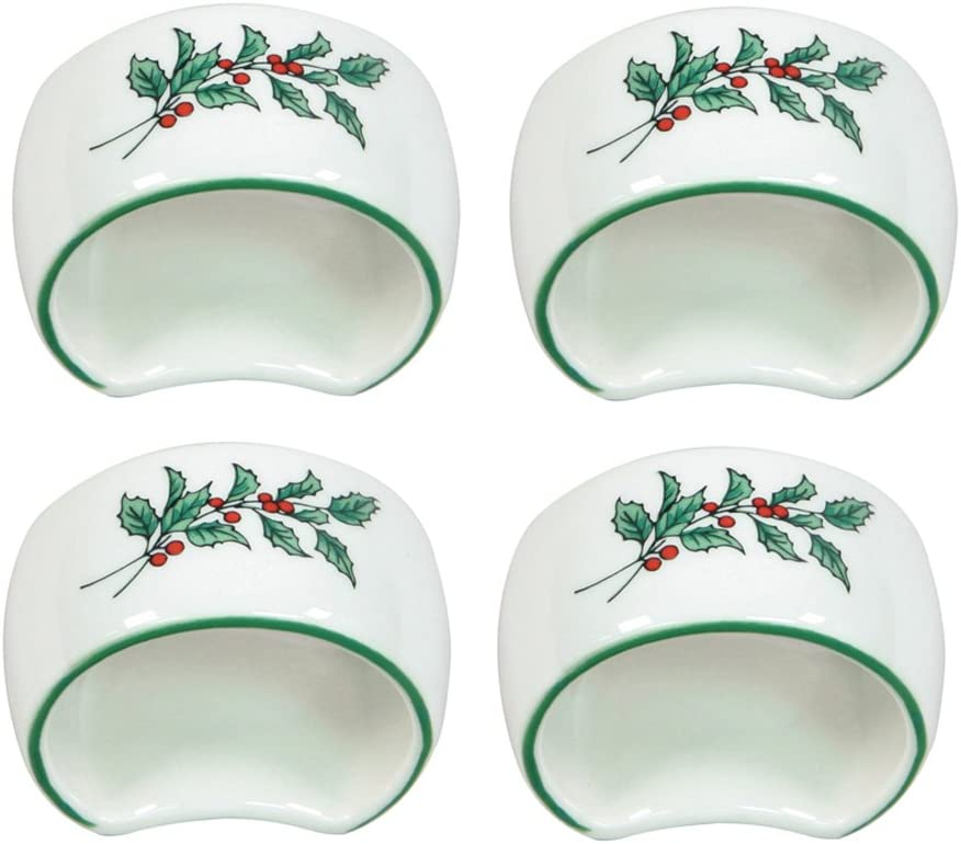 Nikko Christmas Giftware Napkin Set discount 4 Ring Popularity of