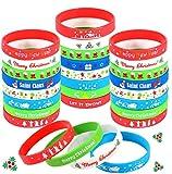 La confezione contiene: cinturino in silicone 40 pezzi, 8 stili natalizi progettati. Realizzato in materiale siliconico, resistente e comodo da indossare. Contiene un assortimento di colori: rosso, verde, bianco e blu. Ideale per feste di Natale o re...